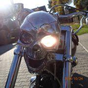 Czaszka lampa do motocykli chopperów , cruiserów