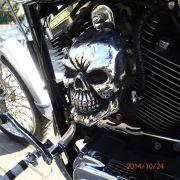 cover skull nakładka na klakson harley